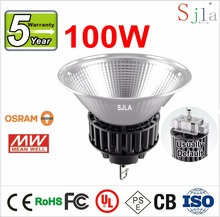 Osram Chip Mean Well Diver Can Dimming SJLA 2016 Model GKB1 Warranty 5Years Bulkhead Lamp 11338LM 100W Led High Bay Light(China (Mainland))