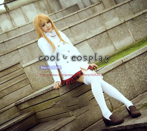 Sword Art Online Asuna Yuuki Cosplay Costume - Custom hoodies coat