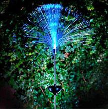 New Solar Power Color Change Fibre Optic Garden Outdoor Yard LED Light Lamp Bulb Hot Free Shipping(China (Mainland))