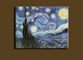 Famous artwork Abstract modern Van Gogh handmade starry night oil painting reproduction on canvas living room