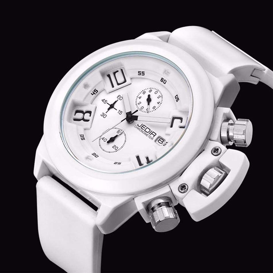 Montre Homme JEDIR Повседневная ХРОНОГРАФ 24 Часов Функция Спортивные Часы Мужские Силиконовые Наручные Часы Часы человек MEGIR Reloj Hombre