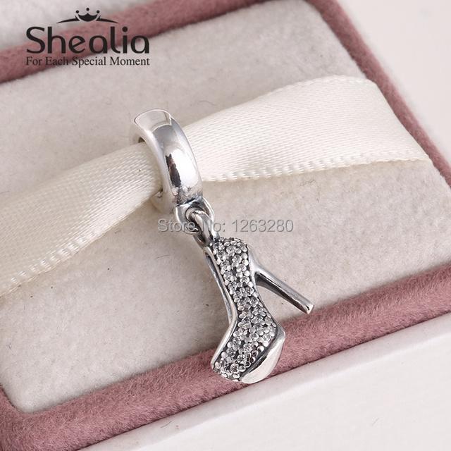 Бусины 2015 туфли на шпильке мотаться подвески высокое - высок-пятки стерлингового серебра 925 SHEALIA ювелирные известный бренд diy браслеты DG143