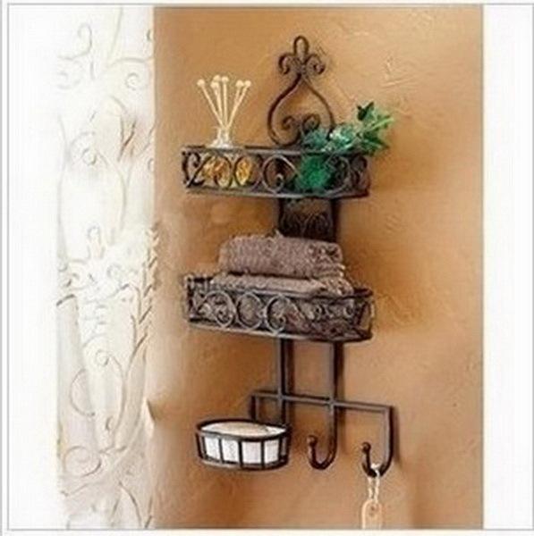 Household goods receive sanitary toilet wall hanging shelf, wrought iron bathroom, bathroom shelf(China (Mainland))