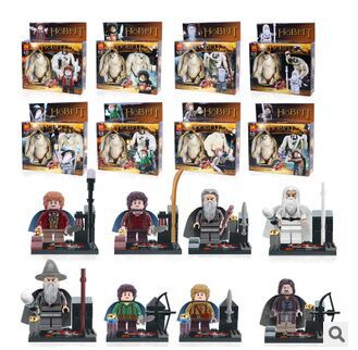 Lord of the Ring Hobbits Movie 16pcs/lots Action Minifigures Building Blocks Children Toys Compatible With Lego Free shipping(China (Mainland))