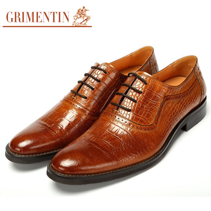 GRIMENTIN fashion Italian mens casual shoes genuine leather black designer men luxury brand flats size:38-44 - store