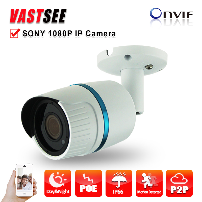 POE 1080P IP camera full hd sony IMX323 Sensor outdoor ONVIF2.4 2.8mm lens option Fixed Bullet Night Vision camaras de seguridad(China (Mainland))