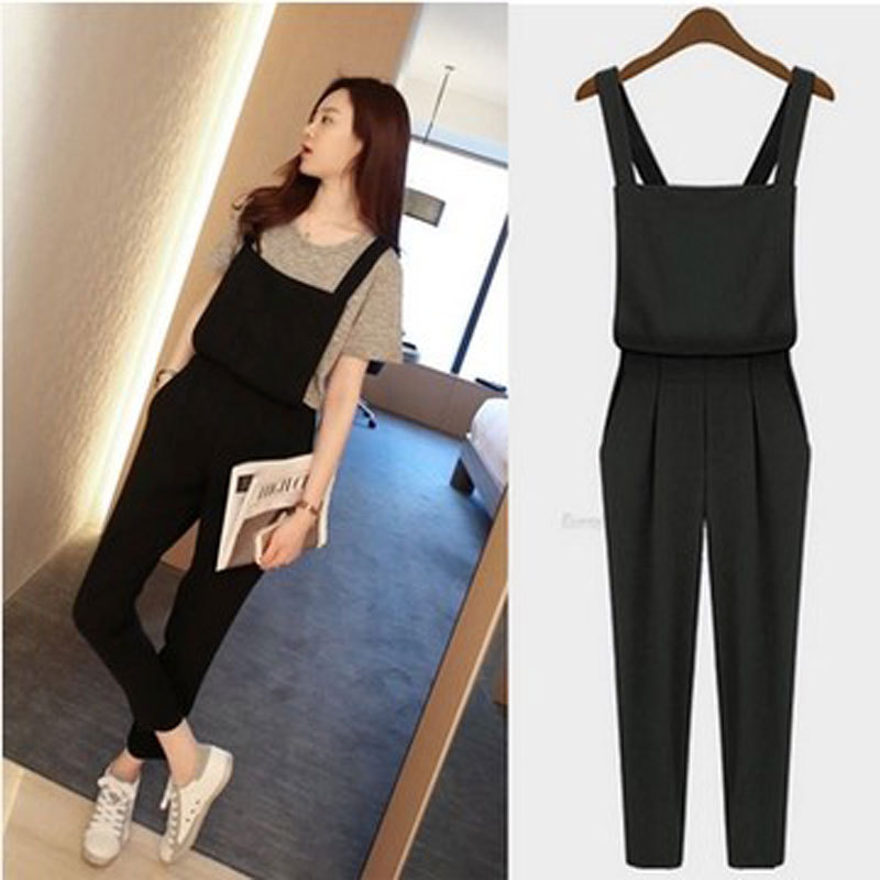 2015 HOT SALE Plus size Korean rompers Womens Jumpsuit bodysuit playsuit Overalls Casual Skinny Pants Jeans