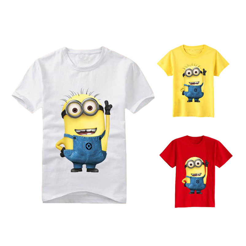 Cartoon figure children minions clothes costume children's clothing t shirts for Kid's BOXXTY(China (Mainland))