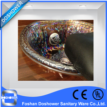 DS customized crystal glass bowls with footrest for pedicure spa chair(China (Mainland))