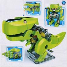 Scenic 4 In 1 Dinosaur Solar Power Educational Robot Kit DIY Toy 2016(China (Mainland))