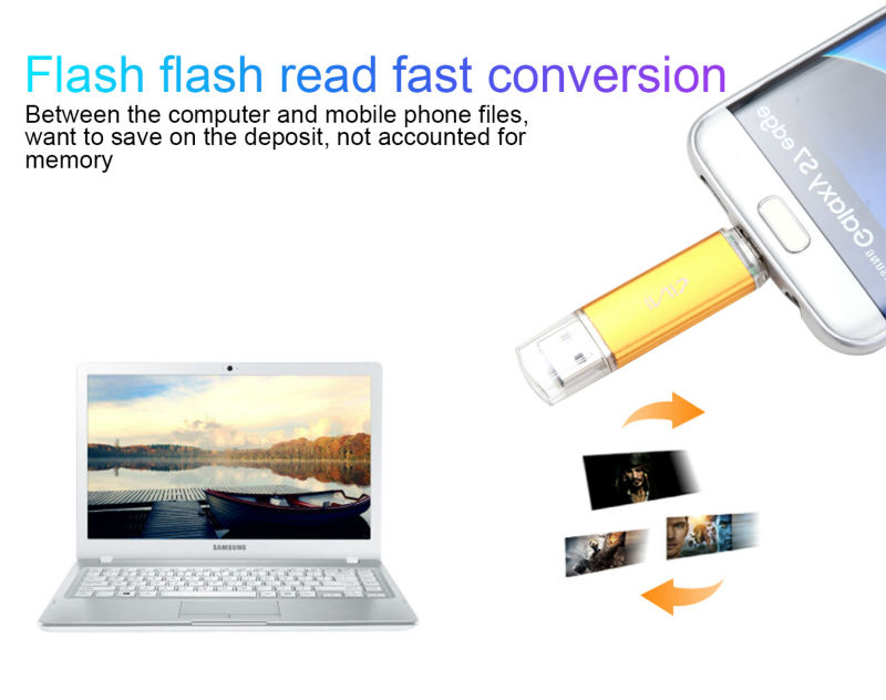 SINI Android OTG USB Flash Drive 4G 8G 16G Pen Drive 32G U disk 64G USB 2.0 Memory Stick for Smart Phone