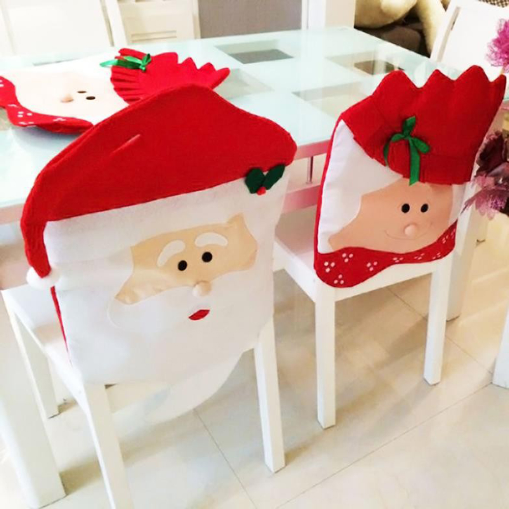 New year decor for home christmas chair covers 2pcs for Mr price home christmas decor