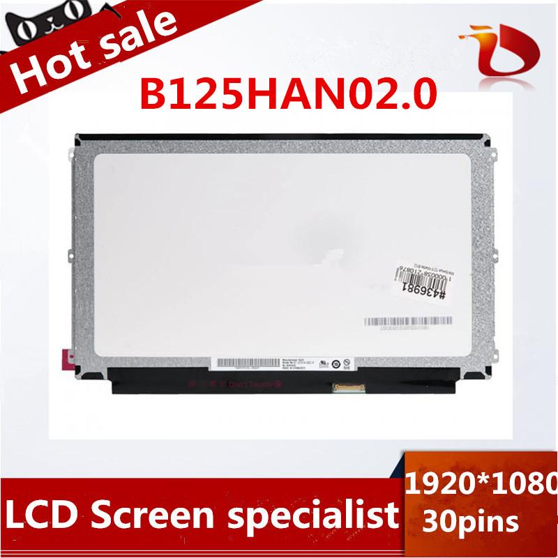 High quality 12.5inch laptop IPS screen B125HAN02.0 B125HAN02 test well before sending(China (Mainland))