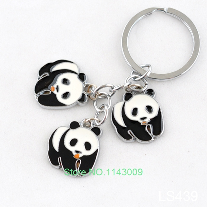 free shipping boda chaveiro fancy panda keychain bijoux fashion panda jewelry wholesale metal. Black Bedroom Furniture Sets. Home Design Ideas