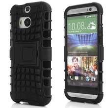 For HTC M8 Heavy Duty Impact Hybrid Armor Cover Kick-stand Hard Plastic Case For HTC One M8 Phone Bags & Cases IDOOLS(China (Mainland))