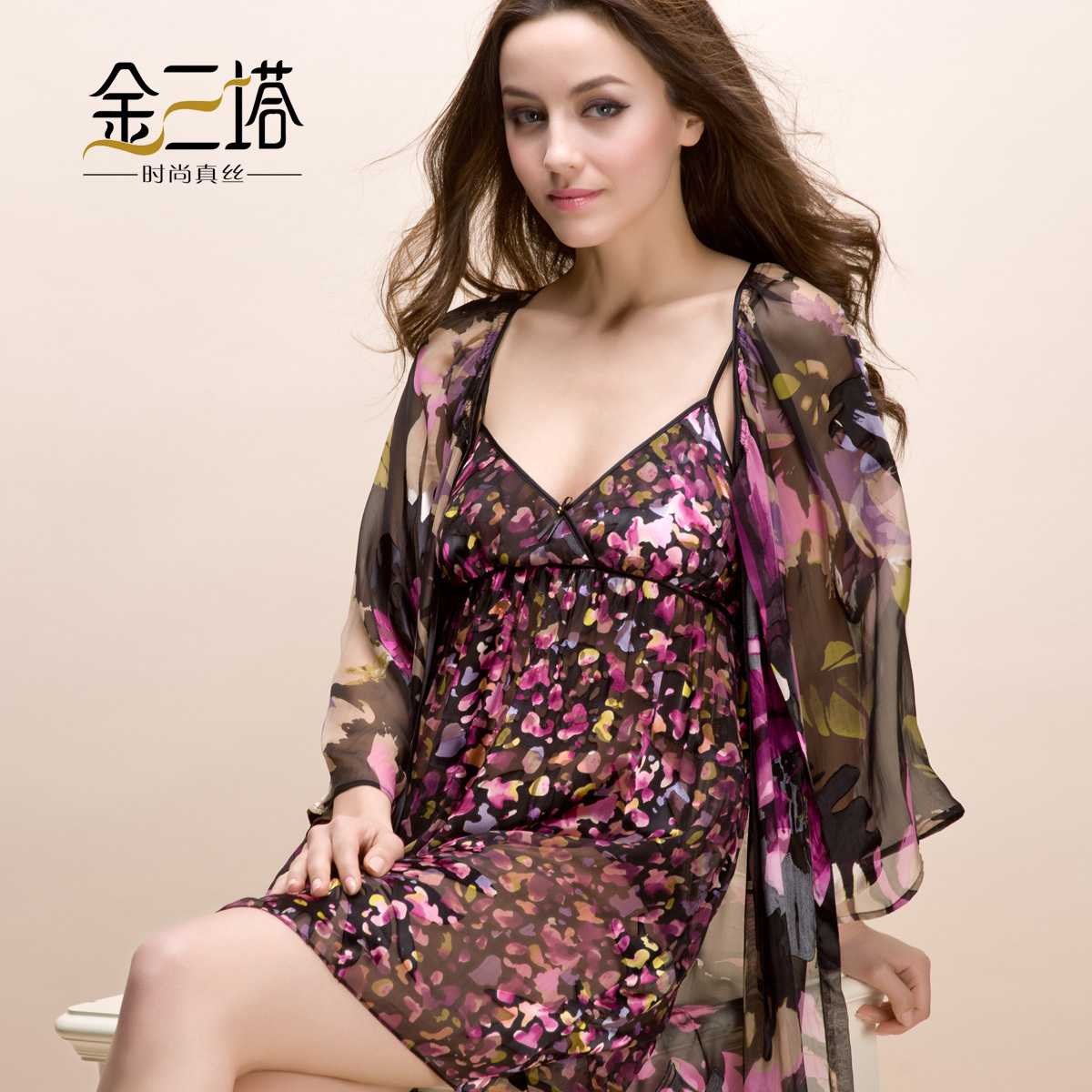 Здесь можно купить  Advanced mulberry silk sleepwear female aesthetic flower silk burnt-out raw silk robe set lounge set Advanced mulberry silk sleepwear female aesthetic flower silk burnt-out raw silk robe set lounge set Одежда и аксессуары