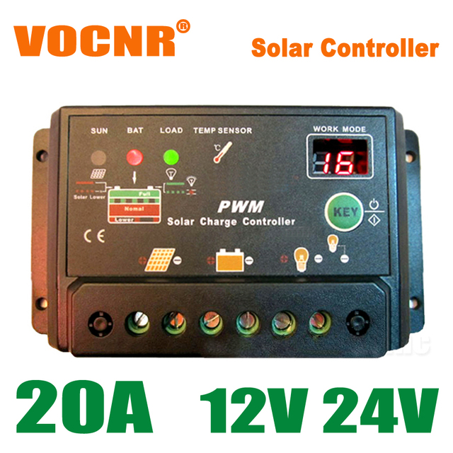 20A 12V 24V Auto intelligence Solar Charge Controller with timer, 20Amps lamp Regulator for LED street lighting home solar kits