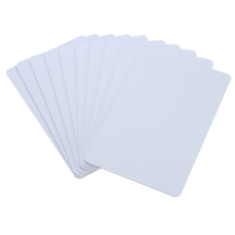 White 10Pcs/Pack PVC NFC Smart Card Tag S50 For IC 13.56MHz RFID Readable Writable 8.5 x 5.4 x 0.1cm New(China (Mainland))