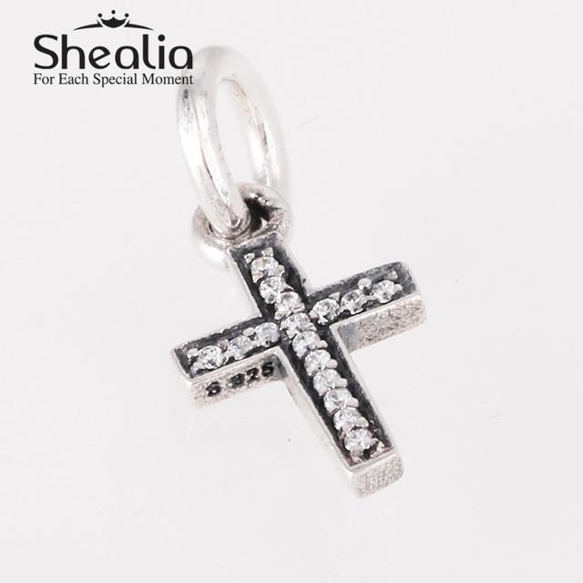 Вымощает циркон символ веры trust надежда удачи мотаться бусины 925 чистое серебро религиозные подвески кулон fit подвески браслет