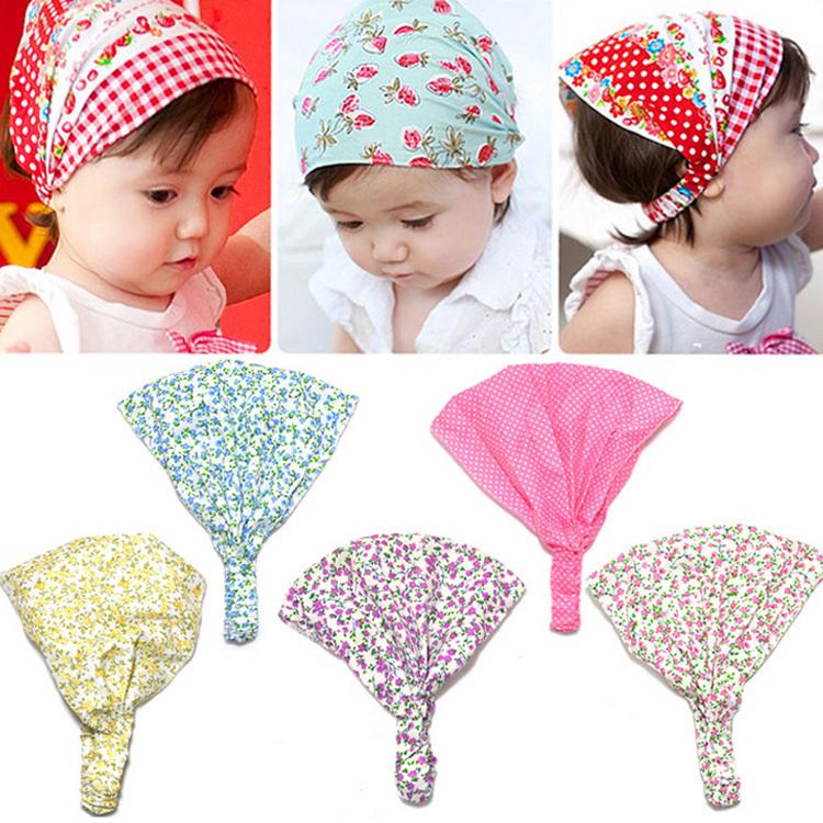 New Arrival Baby Girl Kid Newborn Flower Headband Hair Wear Accessories Headscarf Bandana Hat 5 Colors BB-129(China (Mainland))