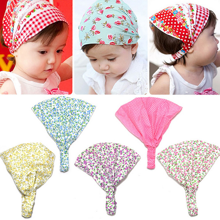 New Arrival Baby Girl Kid Newborn Flower Headband Hair Wear Accessories Headscarf Bandana Hat 5 Colors BB-129(China (Mainland))