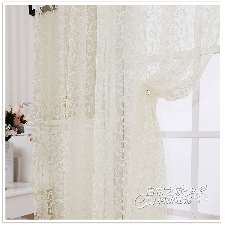 Buy 0 8m 1m elegant embroidery balcony window curtains for B m living room curtains