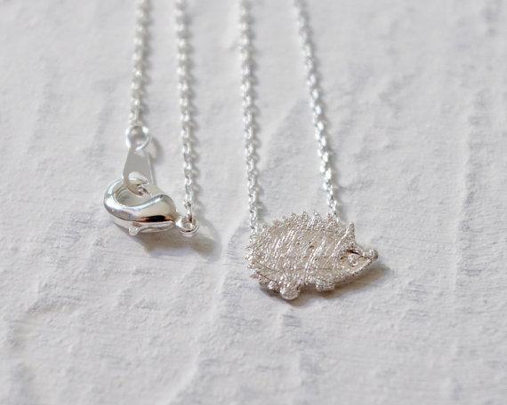 Gold Silver Hedgehog Necklace 1