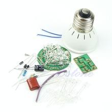 Free Shipping New Energy-Saving 38 LEDs Lamps DIY Kits Electronic Suite 1 Set