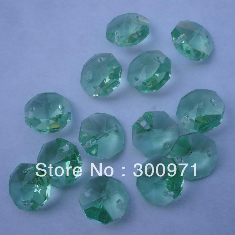 Здесь можно купить  Free shipping 1000pcs/lot , APPLE GREEN   color ,14mm crystal octagon beads in 2 holes for home decoration accessories  Свет и освещение