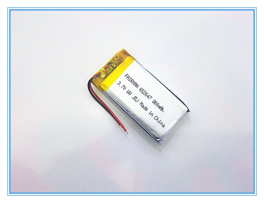 Free shipping 3.7V,800mAH,[652647] PLIB; polymer lithium ion / Li-ion battery for dvr,GPS,mp3,mp4,cell phone,speaker<br><br>Aliexpress