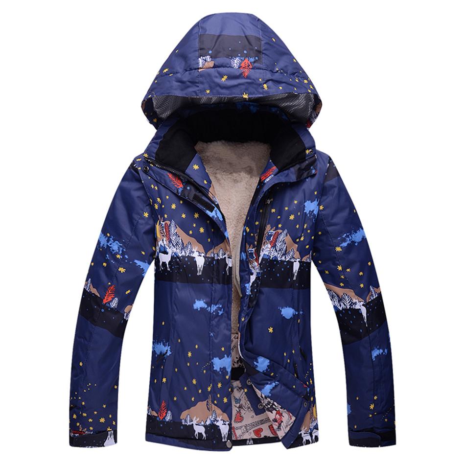 Free Shipping New Womens Ski Suit top fashion chaquetas snowboard woman waterproof ski jacket Ladies warm winter female(China (Mainland))