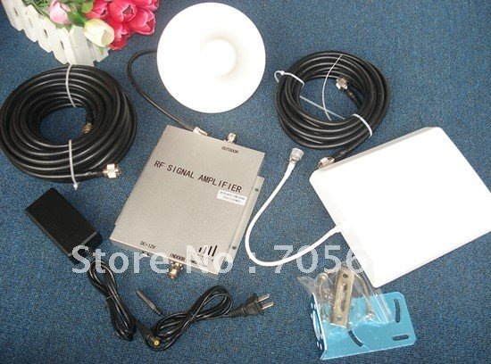 Free shipping full set dual band booster,W/ cable&antennas,1000M2 to work,GSM+DCS,GSM booster,DCS booster,GSM/DCS repeater