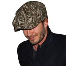 Fashion Gentleman Octagonal Cap Newsboy Beret Hat Autumn And Winter For Men's Jason Statham Male Models Flat Caps Golf Driving(China (Mainland))