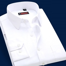 Men's Long Sleeve White Shirt Brand Slim Fit casual Dress Male Shirt Business Occupation mens clothing Big Plus Size S-4XL(China (Mainland))