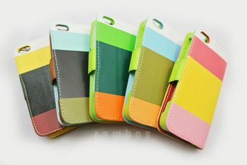 Leather Case PU Leather Wallet Case for iPhone 5C 300pcs/lot