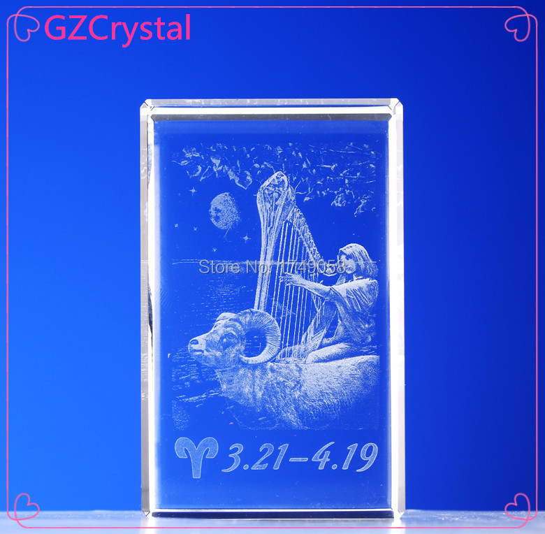 2015 Shining 3d photo crystal laser engraving machine price religious aries crystal gift(China (Mainland))