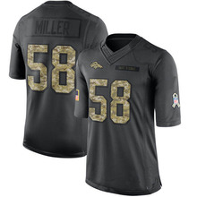 Men's #58 Von Miller Limited Black 2016 Salute to Service Football Jersey %100 Stitched(China (Mainland))