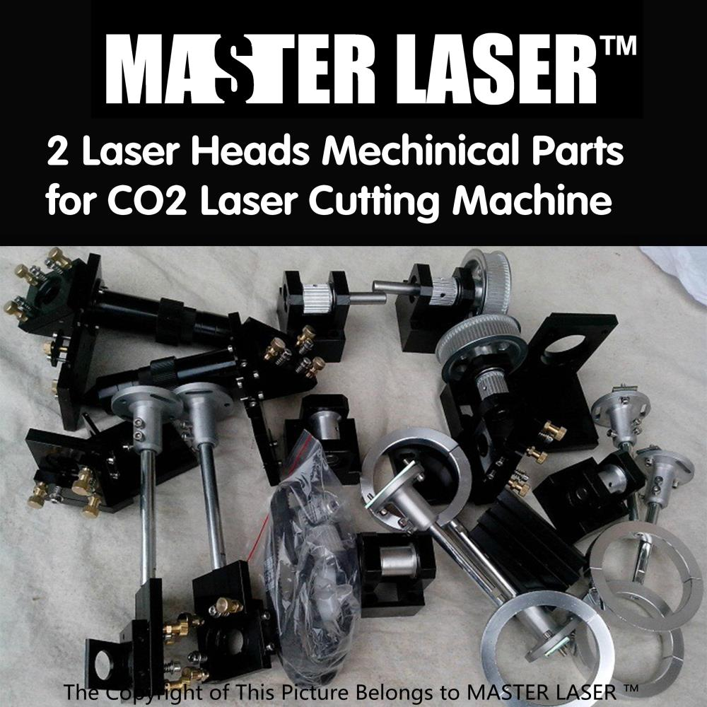Whole set CO2 Laser Cutter Parts Laser Mechanical Components Diy CO2 laser with 2 Laser heads(China (Mainland))
