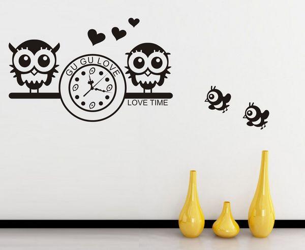Citaten Kunst Yang Bagus : Gratis verzending uilen klokken kunst aan de muur sticker