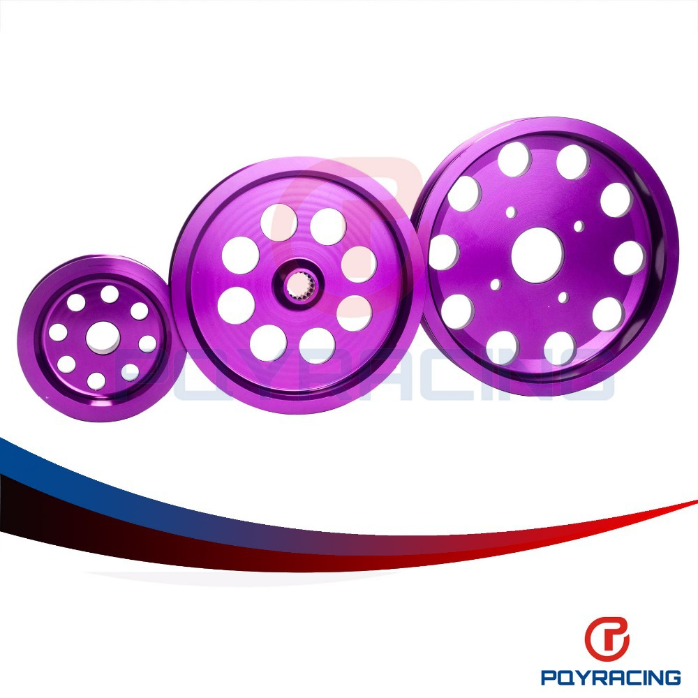 PQY STORE Light weight crank pulley New FOR Nissan GTR BNR32 RB26DETT RB20 RB25 Underdrive Light