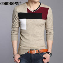 High Quality Autumn Winter Soft Warm Knitted Cashmere Sweater Men Christmas Sweaters Casual V-Neck Pullover Men Pull Homme 66204(China (Mainland))