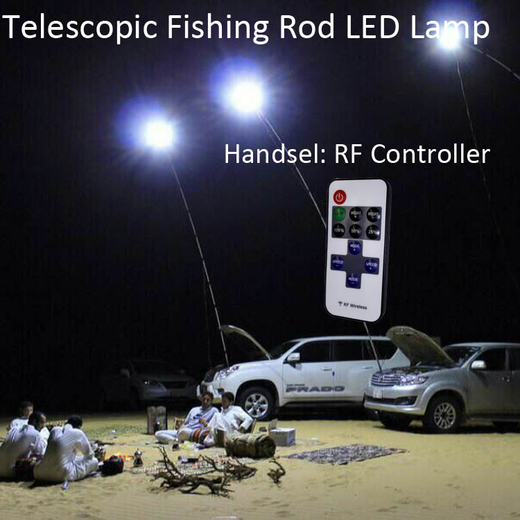 12V LED Telescopic Outdoor Lantern Camping Lamp Light Night Fishing Road Trip with RF Controller(China (Mainland))