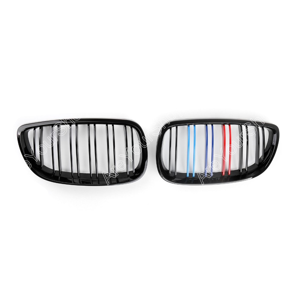 Sale For BMW E92 E93 328i 335i 2 Doors Gloss Black Car Front Kidney Grille Grill Double Rib