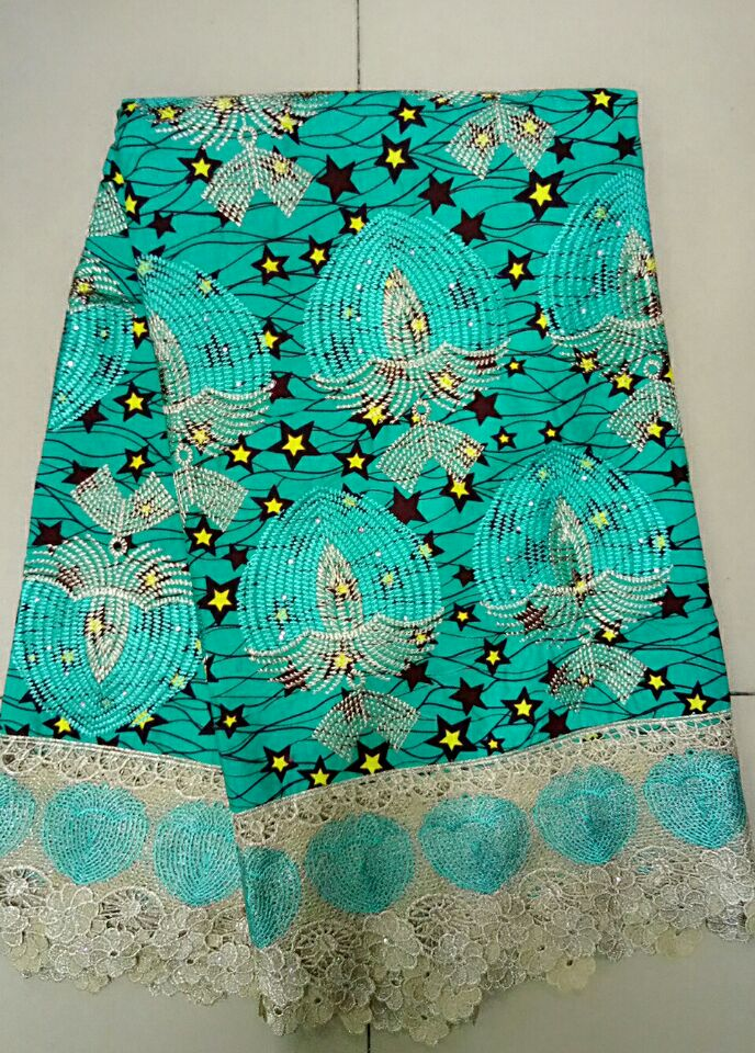 African Wax Prints Fabric For African Wax Cloth Embroidered Fabric Wax Lace China Fabric Suppliers African Fabric Store (1LOU-6)(China (Mainland))