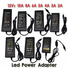 New 12V/24V 2A/3A/4A/5V/6A/8A/10A AC 100V-240V Converter Adapter  Power Supply Transformer for 5050 3528 5630 LED Strip Light