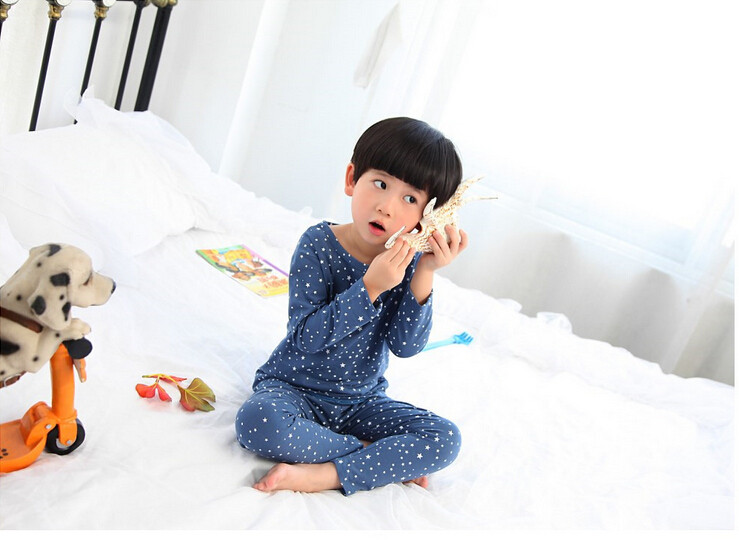 Cute Pyjama Children,Pyama Children Boys,Girls Sleepwear,2016 New Cotton Cloth Full Sleeve Home Amusement 2Pcs Sleepwear Go well with 031610 (7)