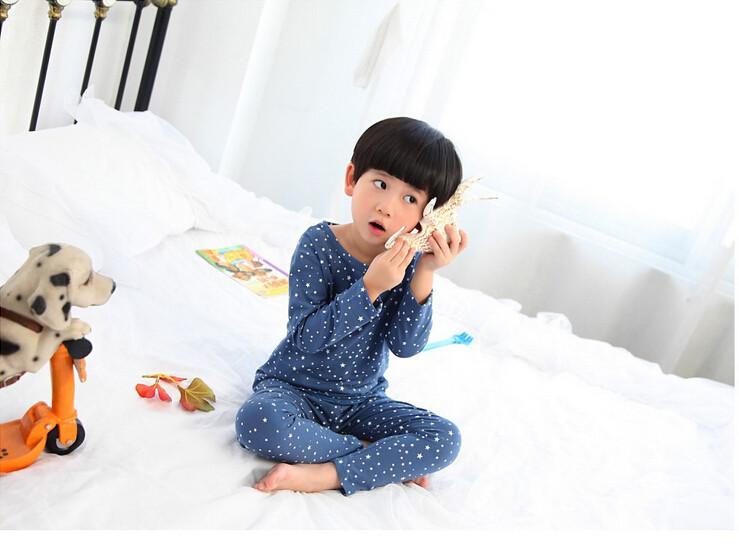 Cute Pyjama Children,Pyama Children Boys,Girls Sleepwear,2016 New Cotton Cloth Full Sleeve Home Amusement 2Pcs Sleepwear Go well with 031610 (7)