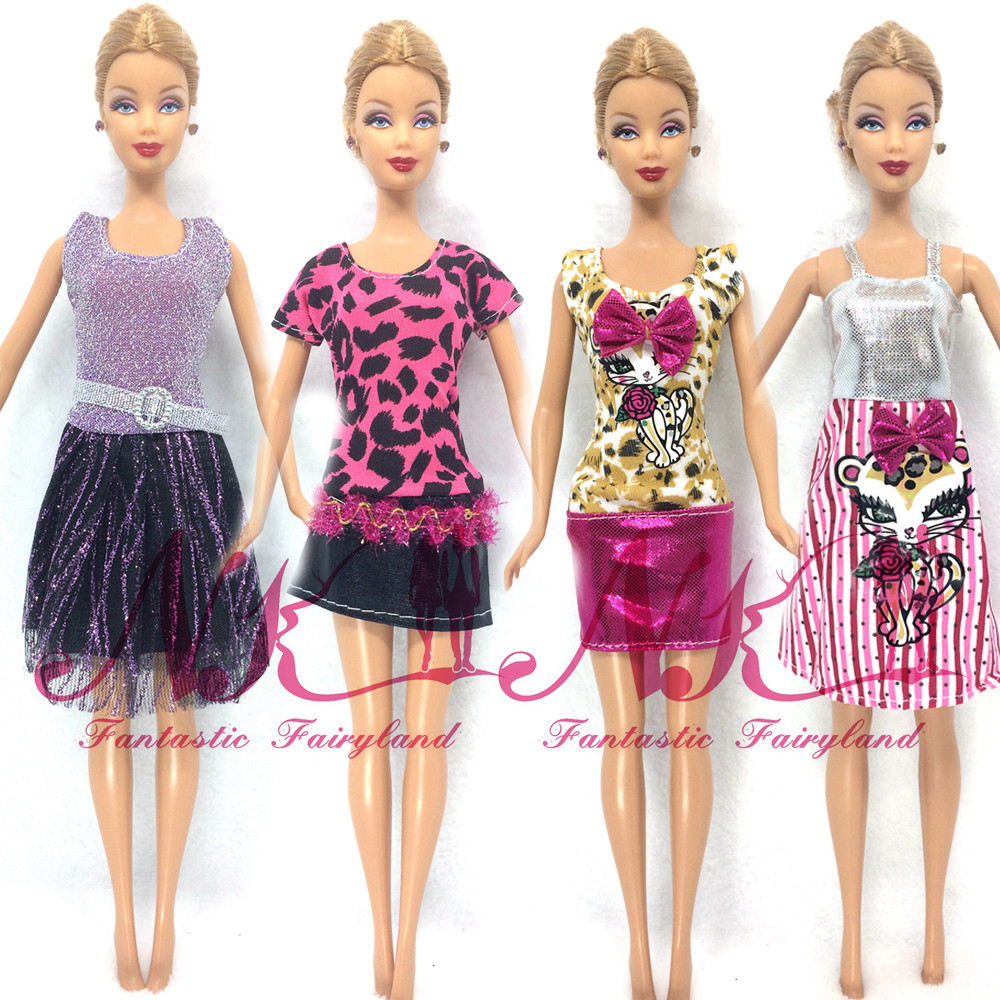 NK New Free Transport 5 Units=Garments Pants Or Mini Skirt Set Vogue Outfit Garments Outwear swimsuit set coat for barbie doll