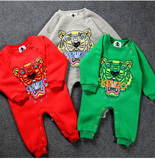 2015 New Arrive Autumn Spring Long Sleeve Baby Boys/Girls Rompers Classic Tiger One-Piece Clothings Kids Unisex - Beauty&Baby Store store