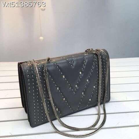 2016 women goat skin genuine leather shoulder bag diamond chain messenger bag(China (Mainland))